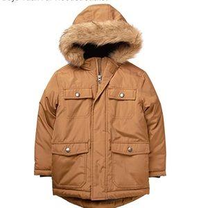 Gymboree Brown Fur Hooded Toddler Coat 18-24m